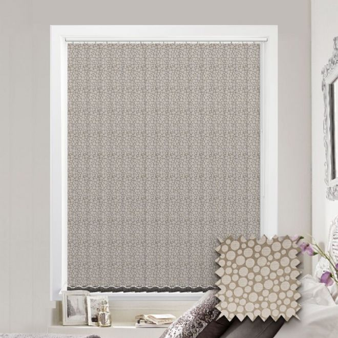 Made to Measure Polka Gold Vertical Blind - Just Blinds